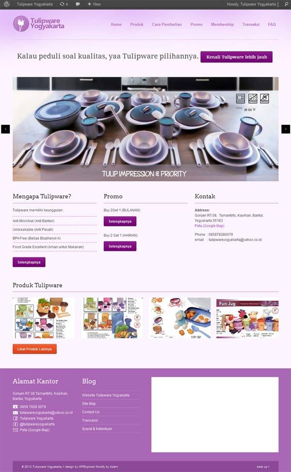 web tulipware yogyakarta